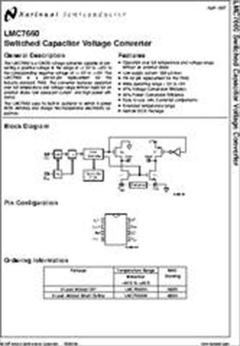 capacitor package datasheet lmc7660 datasheet lmc7660 switched capacitor voltage converter package