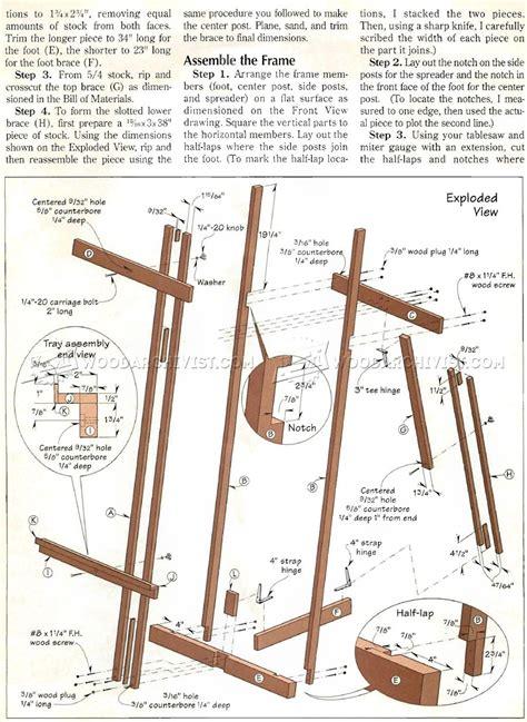 easel plans woodworking diy easel woodarchivist