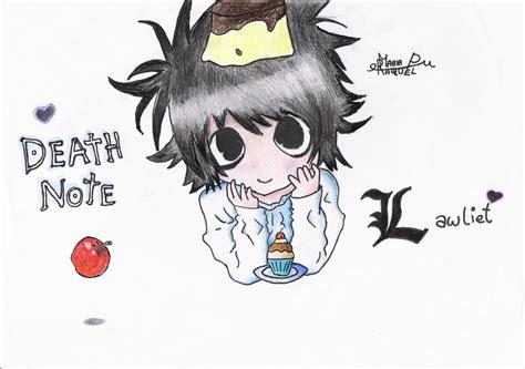 imagenes de l kawaii l lawliet kawaii death note por reiokami dibujando