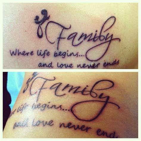 family oriented tattoos matching tattoos family can t get any