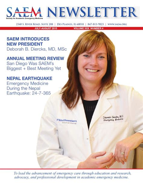 Deborah White Md Mba by Saem Newsletter July August Issue By Society For Academic