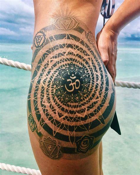 mandala tattoo with om om mandala hip tattoo pinterest mandala om and tattoo