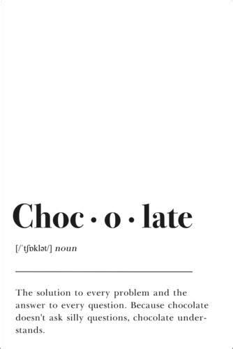Póster Definição de chocolate (inglês) de Pulse of Art