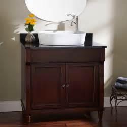 walnut vanity 36 quot watkins vessel sink vanity walnut bathroom
