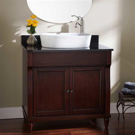 36 quot watkins vessel sink vanity walnut bathroom