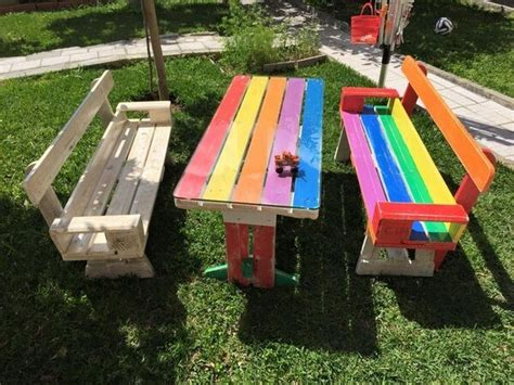 unique pallet picnic table bench pallets designs