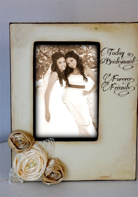 Rustic Vintage Wedding Bridesmaid Best Friend Picture