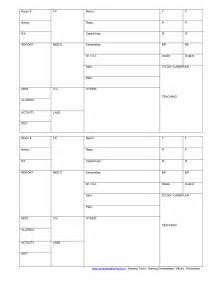 Nursing Report Sheet Template by Report Sheet On Brain Sheet