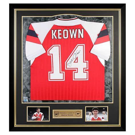 Kaos Arsenal Arsenal Signature 1 arsenal signed keown 92 94 home shirt official store
