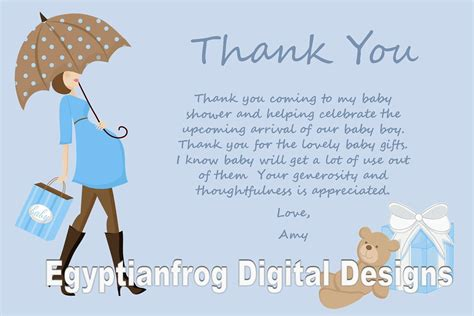 Baby Shower Thank You Note Wording by Blue Baby Bump Pregnancy Baby Shower Thank You Notes You