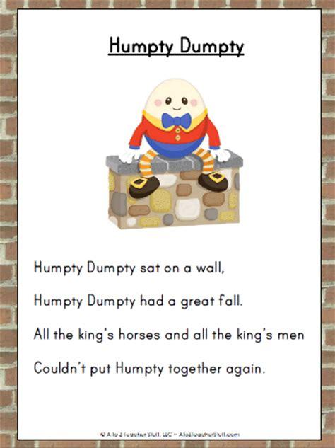 full humpty dumpty rhyme nursery rhymes and their negativity being mumma