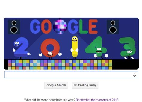 google design yesterday google ushers in the new year with yet another happy new