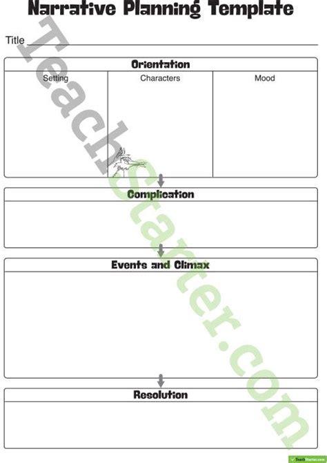 Narrative Template Narrative Writing Planning Template Teaching Resource