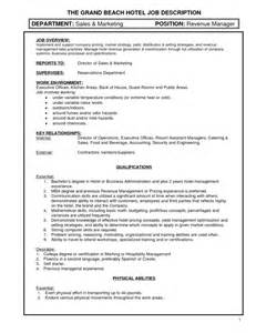 Assistant Hotel Manager Sle Resume by Executive Assistant Description