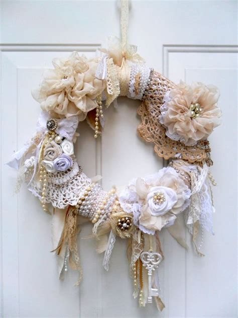 shabby wreath cottage wreath christmas wreath floral