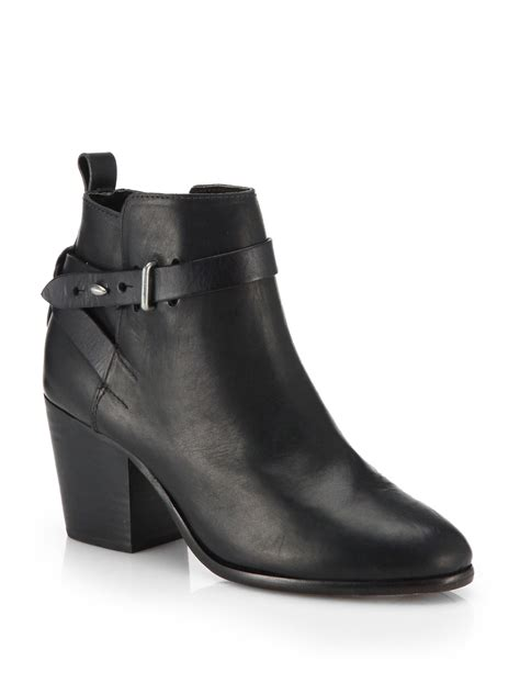 rag and bone boots rag bone dalton leather ankle boots in black lyst