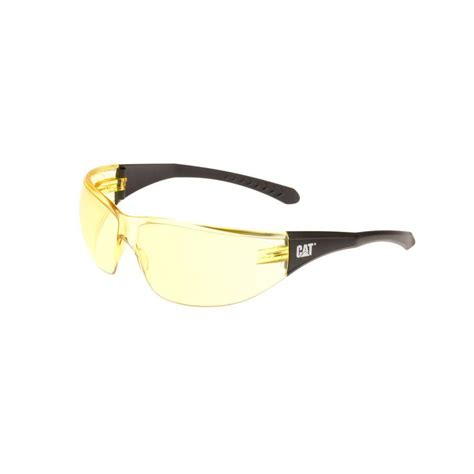caterpillar safety glasses mortar yellow lens with