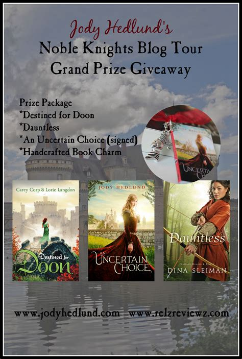 Grand Prize Giveaway - jody hedlund s noble knights blog tour grand prize giveaway relzreviewz com