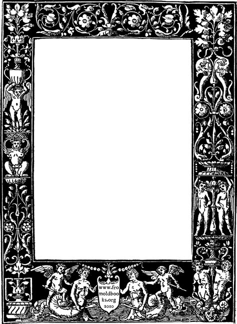 Home Story 2 by Ornate Border From 1878 Title Page Black Version