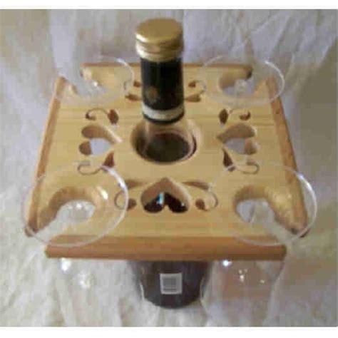 pattern for wine bottle holder wine bottle and glass caddy valentine design ss woodcraft