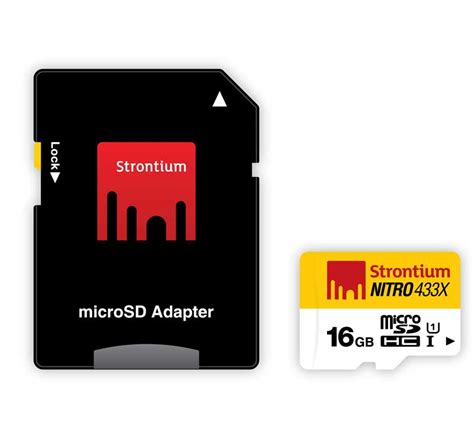 Strontium Micro Sd 16gb strontium 16gb nitro 433x microsdhc uhs 1 with adapter