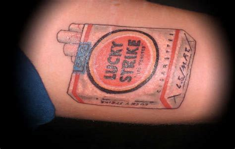 lucky strike tattoo mccloud lucky strike lucky strie brand smokin cigarette