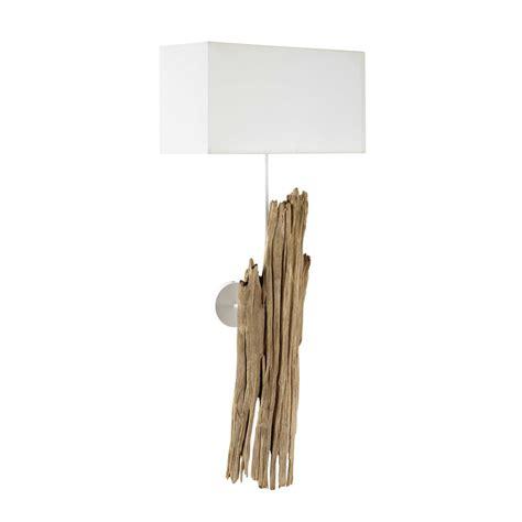applique in legno applique in legno e cotone bianco h 93 cm refuge maisons