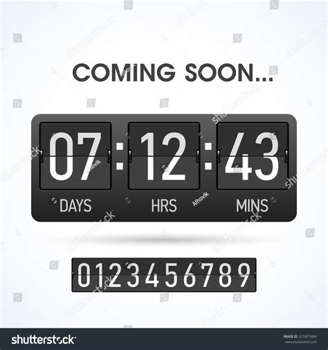 countdown timer template coming soon countdown website timer template stock vector