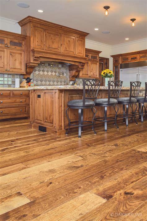 custom hand scraped hickory floor in cupertino