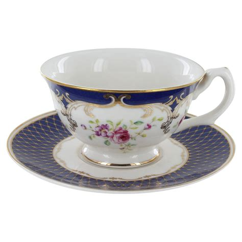 Tea Cup by Navy Porcelain Teacup And Saucer Set