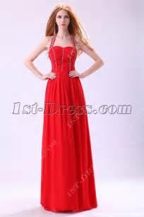 red halter long evening dress for petite women 1st dress com