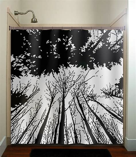 Curtains For Bathroom Window Inspiration Forest Grove Woodland Winter Trees Shower Curtain Bathroom Decor Fabric Bath Window