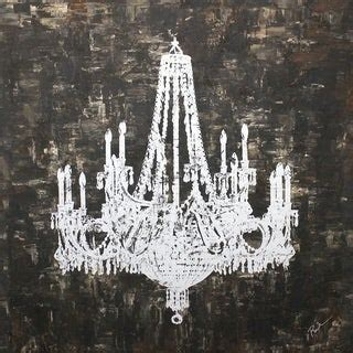 shop art  style silver chandelier hand painted canvas