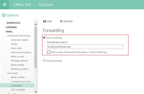 Office 365 Outlook Forward Email Exchangepedia Disable Automatic Email Forwarding In