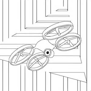 clipart quad drone coloring for grown ups
