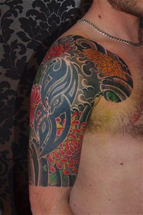 japanese tattoo by fil wood chrysanthemum 1 2 sleeve