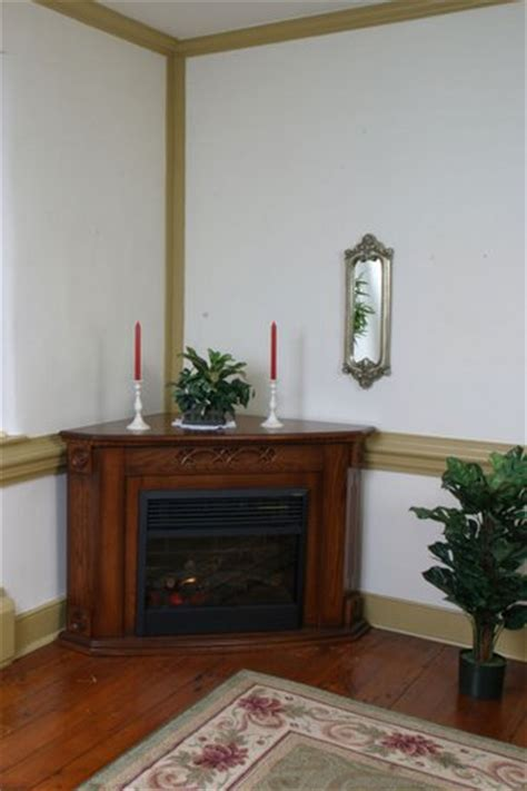 amish electric corner fireplace with insert