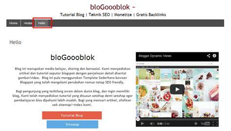 cara membuat halaman index html cara membuat halaman statis di blogspot