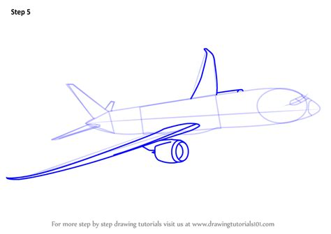 787 Coloring Page by Learn How To Draw A Boeing 787 Airplanes Step By Step