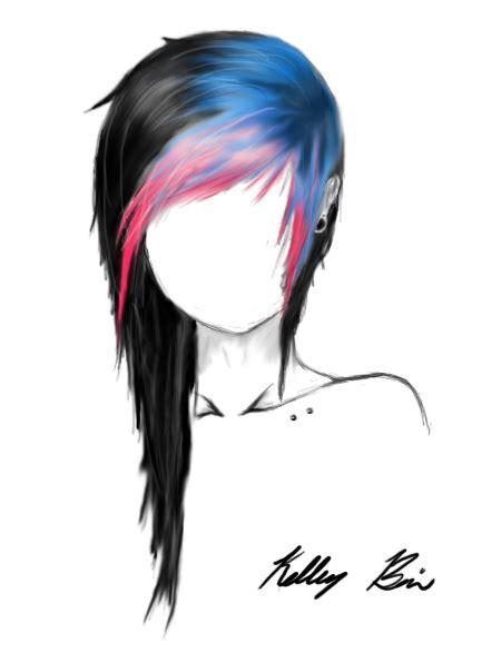 emo hairstyles drawing scene girl hair drawings per me pinterest drawing