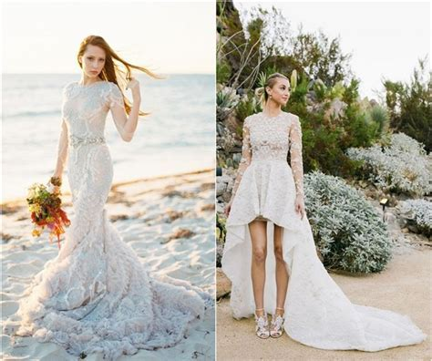 Top 20 Beach Wedding Dresses with Gorgeous Details   Deer