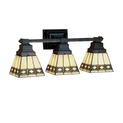 Mission Style Light Fixtures Meyda 20 Inch Mission Three Light Bath Fixture