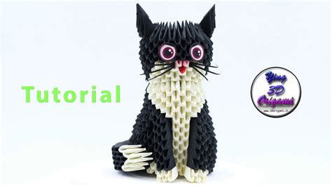 origami 3d cat tutorial 3d origami little cat tutorial 4k origami 3d gattino