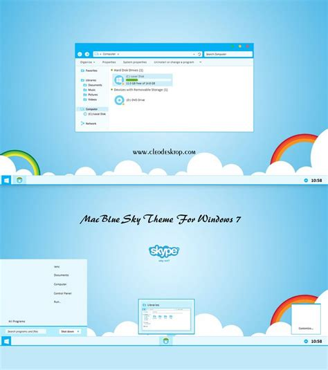 girl desktop themes for windows 7 mac blue sky reup theme for windows 7 cleodesktop mod