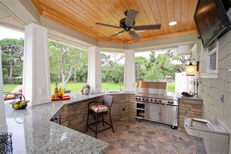outside kitchen design ideas tips untuk dapur luar ruangan homediary majalah