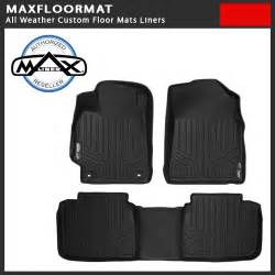 Gmc Floor Mats All Weather Maxfloormat All Weather Custom Floor Mat Liner Black Fit