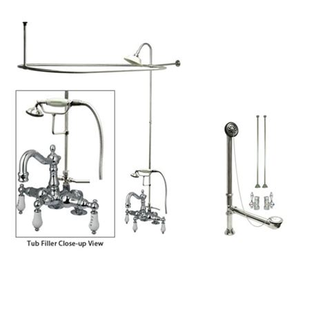 Used Clawfoot Tub Shower Kit by Chrome Clawfoot Tub Faucet Shower Kit With Enclosure