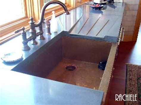 sink with built in drainboard copper sinks rachiele copper sinks with drain boards