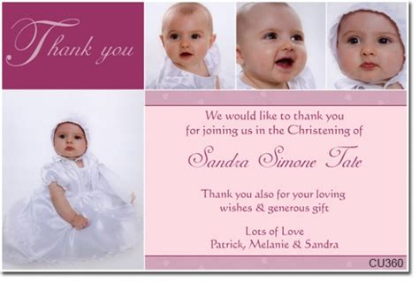 thank you card baptism template powerpoint cu360 christening thank you thank you cards