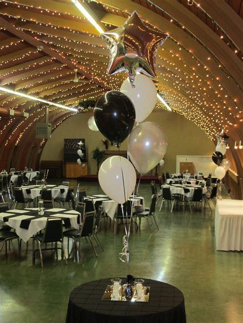 black white silver star balloon centrepieces 13 75